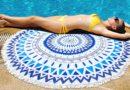 Пляжное круглое полотенце — модный атрибут комфортного отдыха на море